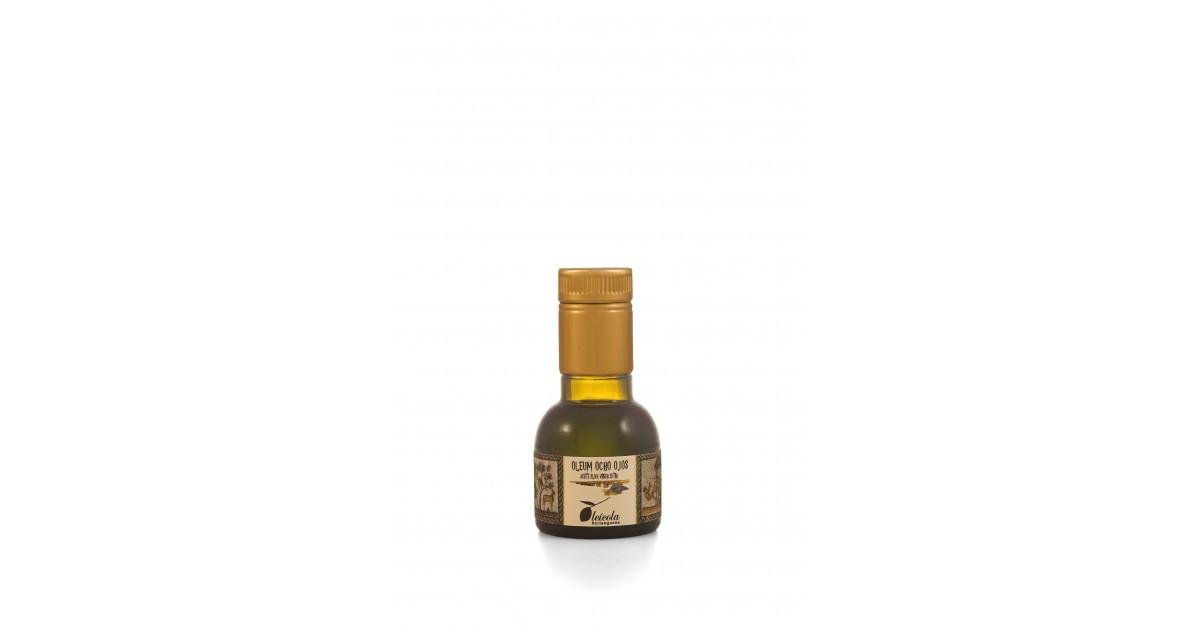 Aceite de Oliva Virgen Extra 20x100ml. Oleum Ocho Ojos Arbequino y Koroneiki Blend