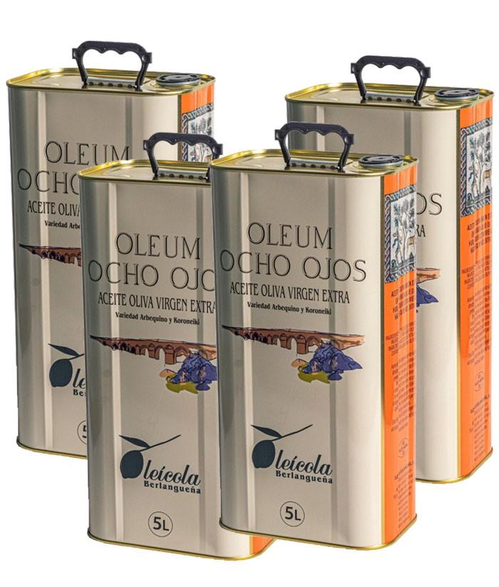 Aceite de Oliva Virgen Extra 4x5L. BLEND Arbequino y Koroneiki