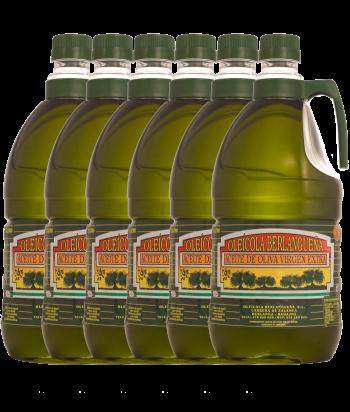Aceite de Oliva Virgen Extra 6x2L. Variedad Pico Limón y Manzanilla