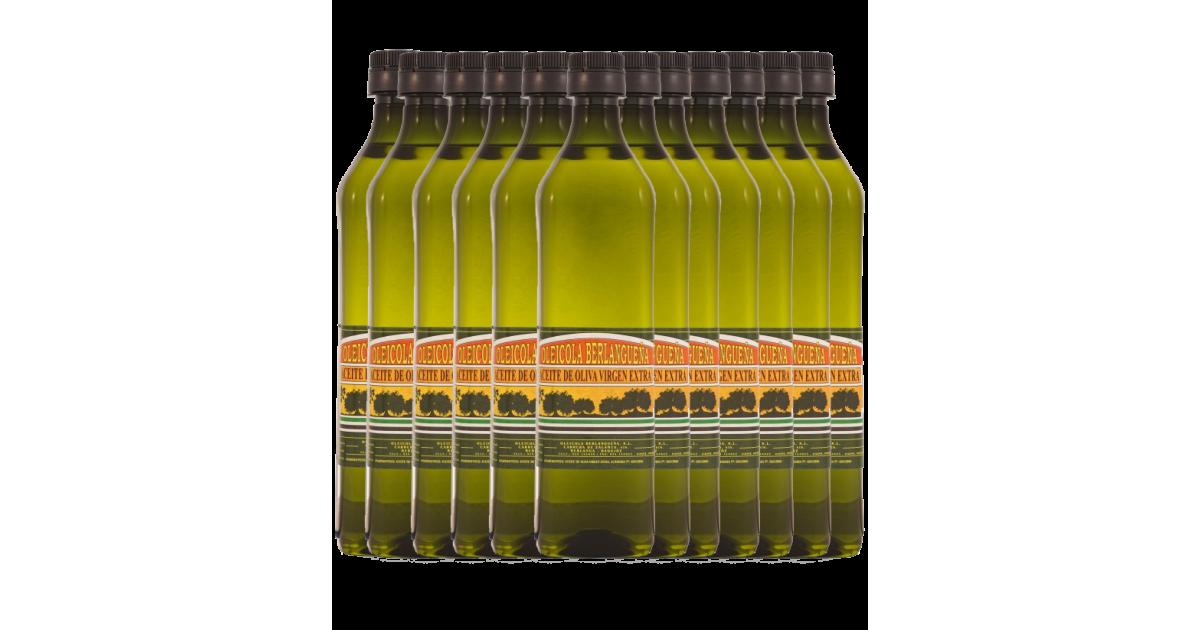 Aceite de Oliva Virgen Extra 12x1L. Variedad Pico Limón y Manzanilla