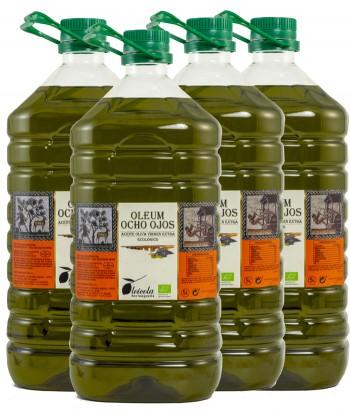 Aceite de Oliva Virgen Extra 4x5L. Oleum Ocho Ojos Ecológico de Arbequino