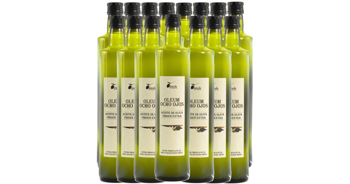 Aceite de Oliva Virgen Extra 15x500ml. Oleum Ocho Ojos Ecológico de Arbequino