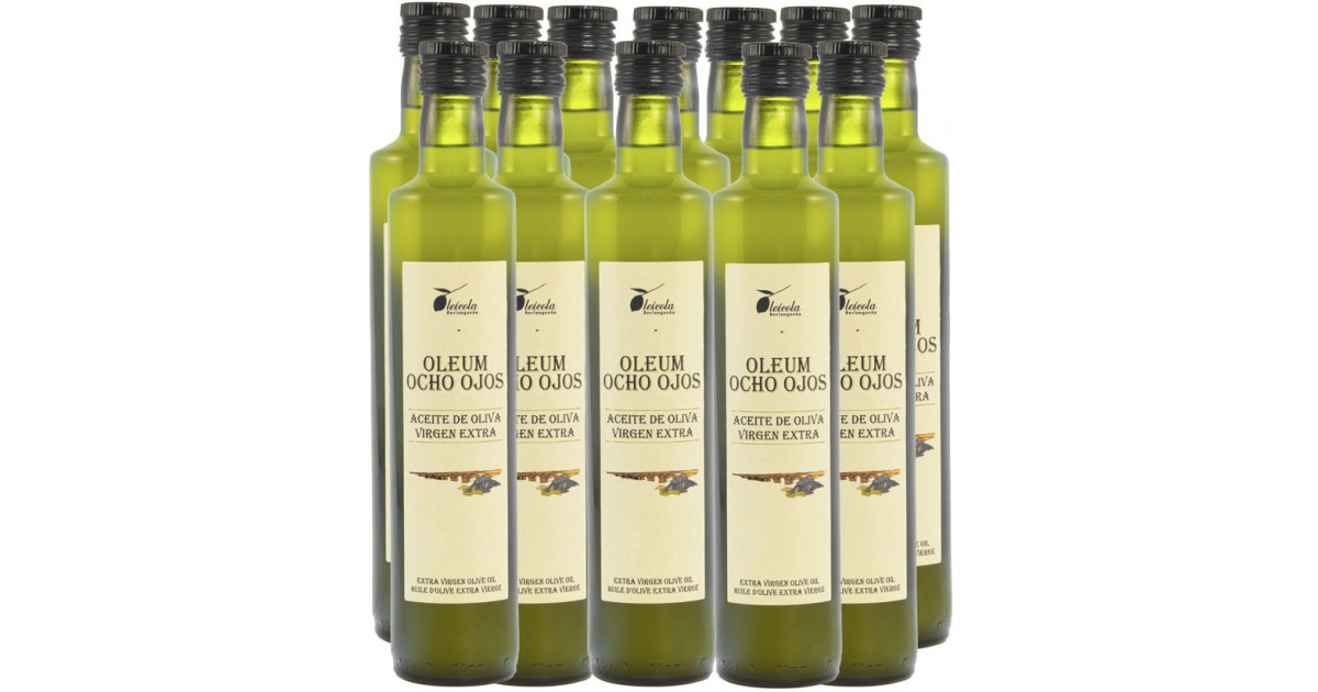 Aceite de Oliva Virgen Extra 12x750ml. Oleum Ocho Ojos Ecológico de Arbequino