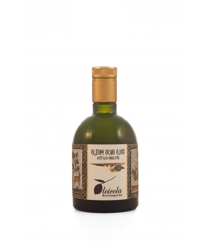 Aceite de Oliva Virgen Extra 10x500ml. Oleum Ocho Ojos Arbequino y Koroneiki Blend