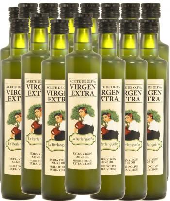 Aceite de Oliva Virgen Extra 15x500ml. Variedad Pico Limón. Cristal Pack