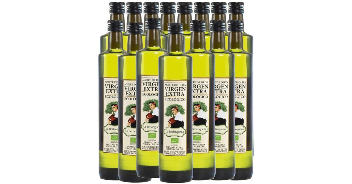 Aceite de Oliva Virgen Extra 15x500ml. Ecológico de Arbequino