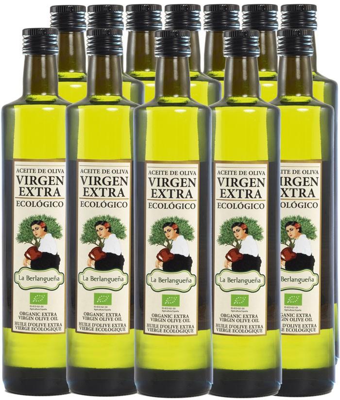 Aceite de Oliva Virgen Extra 12x750ml. Ecológico de Arbequino
