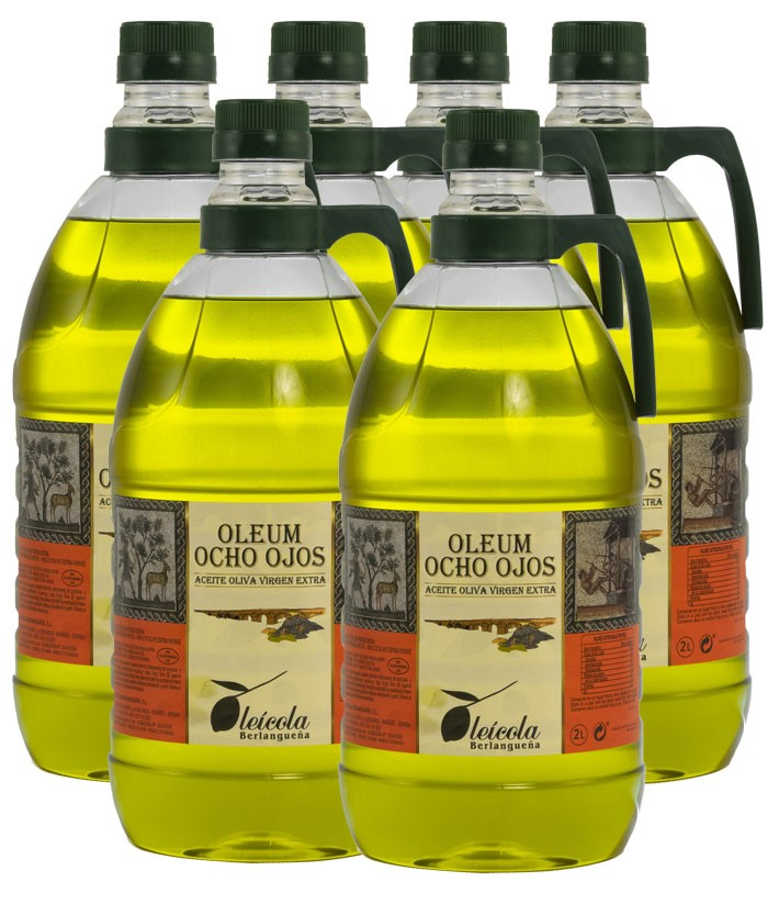 Aceite de Oliva Virgen Extra 6x2L. Variedad Arbequino